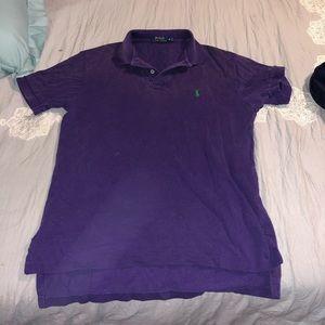 Purple polo collard shirt
